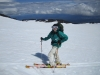 Katt McClaine skiing on Mt. Adams, Washington