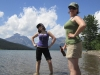 Alexis and Katt at Lower Two Medicine Lake, GNP