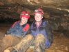 Liz Carriere and Katt McClaine in Ophir Cave, Montana