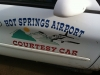 Hot Springs, Montana airport courtesy car!