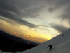 Daryl Greaser skiing Mt. St. Helens