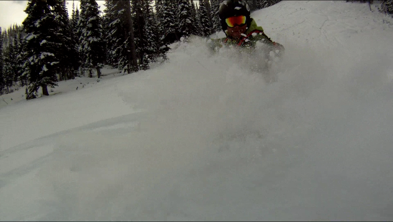 Daryl Greaser shreds gnar at Lost Trail Pass, Montana