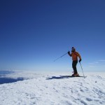Daryl Greaser on the summit of Mt. Adams 2012 © Nick Worden