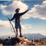 Daryl Greaser on the summit of Sugarloaf, Utah in 1995 by Kevin Greaser