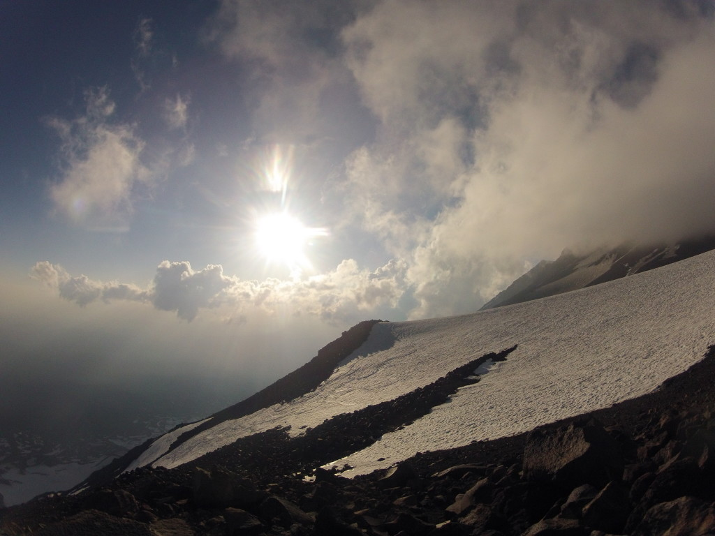 Top of the SW chutes from Piker's Peak, August 2014