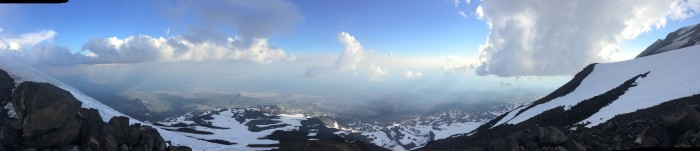 180-degree panorama from Piker's Peak, Mt. Adams, 3 August 2014