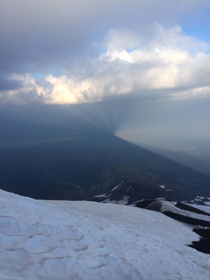 Mt. Adams' shadow, August 3, 2014 from Piker's Peak by Daryl Greaser