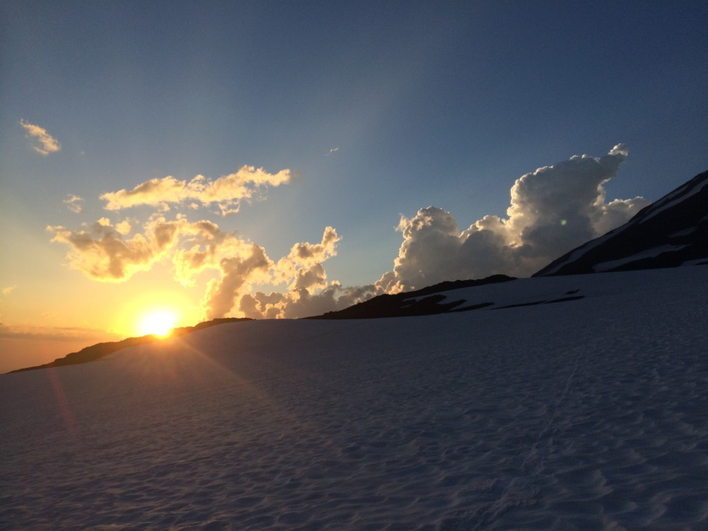 Sunset from high on Mt. Adams, August 2014