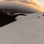 Skiing the Crescent Glacier, Mt. Adams, 3 August 2014 by Daryl Greaser