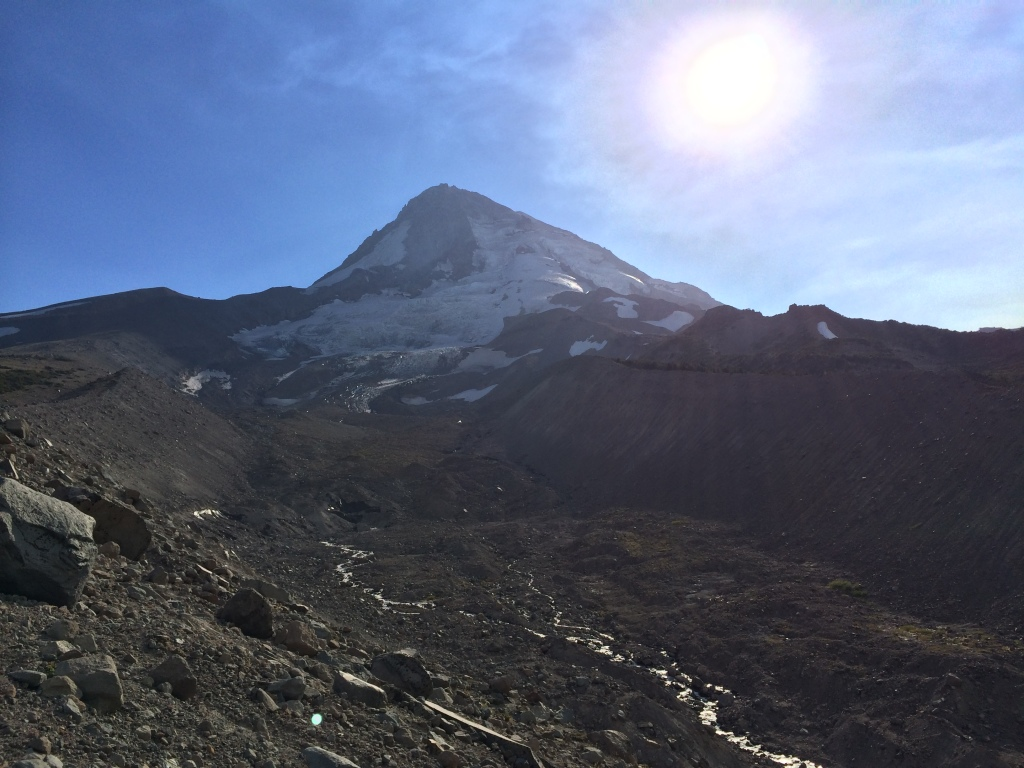 What's left of the Eliot Glacier, Mt. Hood, Oregon, September 2014