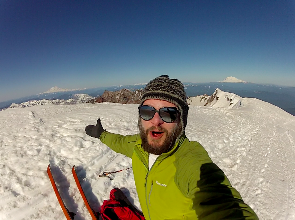 skiing mt. st. helens summit
