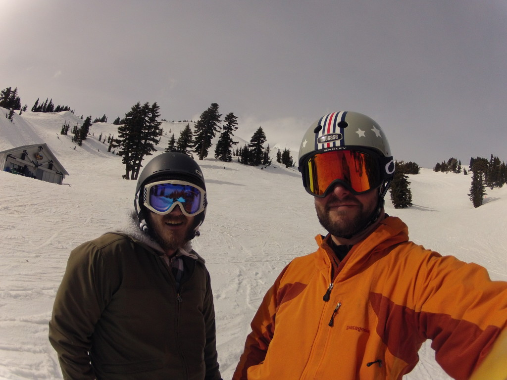 My good friend Chandler's very first day on a snowboard at Mount Hood Meadows, March 2014