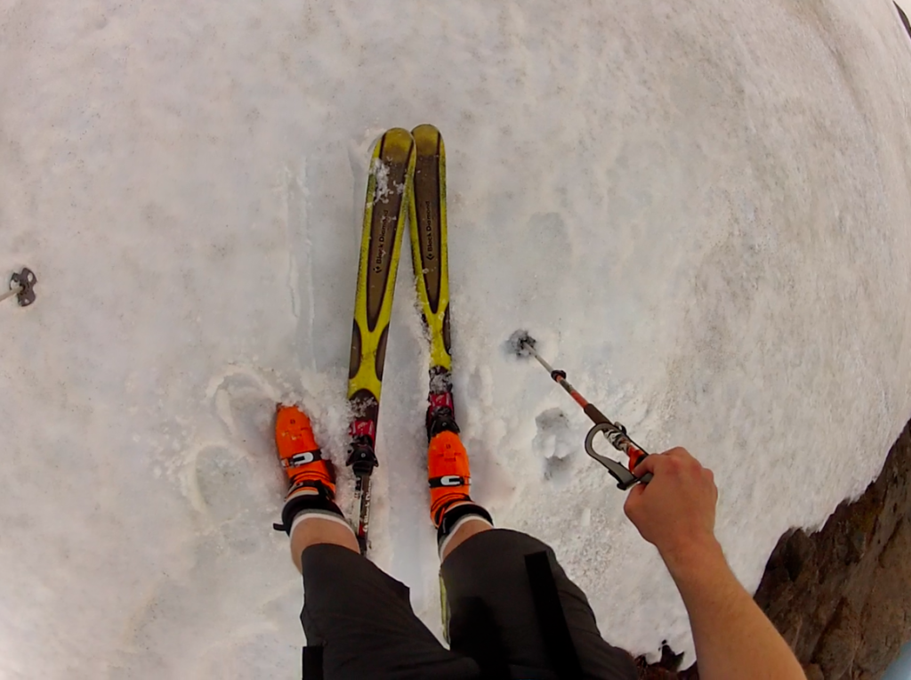 skiing in shorts