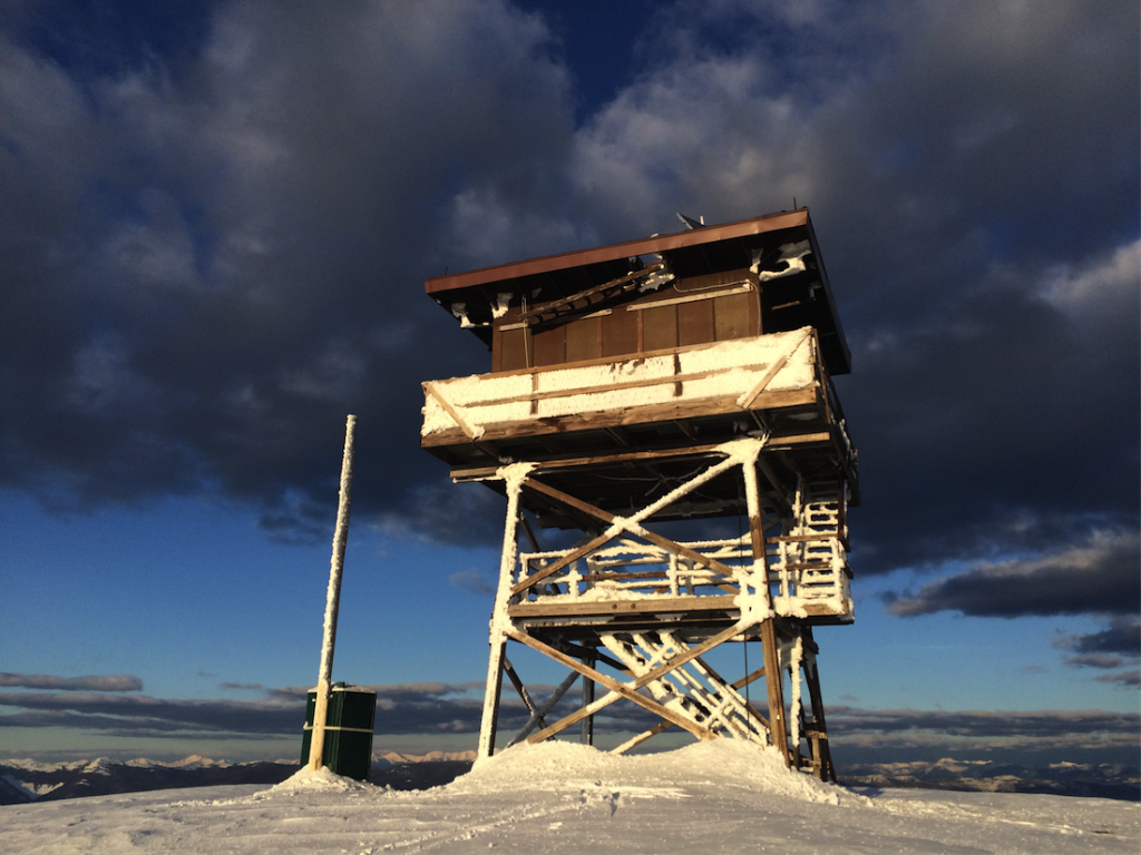 Stark Mountain Lookout, Montana in winter